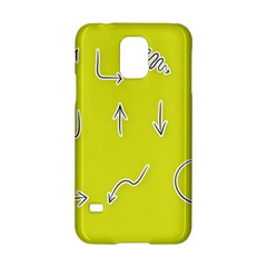 Arrow Line Sign Circle Flat Curve Samsung Galaxy S5 Hardshell Case  by Amaryn4rt