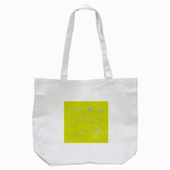 Arrow Line Sign Circle Flat Curve Tote Bag (white) by Amaryn4rt