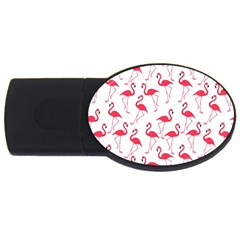 Flamingo Pattern Usb Flash Drive Oval (2 Gb) by Valentinaart