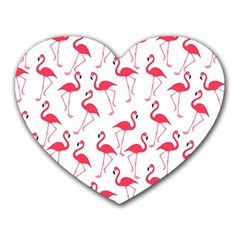 Flamingo Pattern Heart Mousepads by Valentinaart