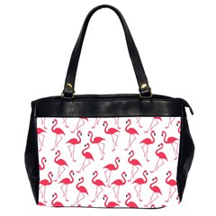 Flamingo Pattern Office Handbags (2 Sides)  by Valentinaart