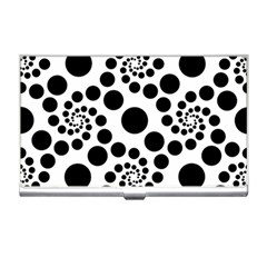 Dot Dots Round Black And White Business Card Holders by Amaryn4rt