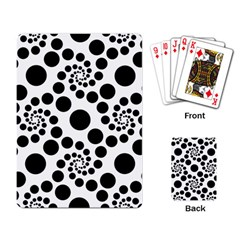 Dot Dots Round Black And White Playing Card by Amaryn4rt