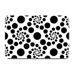 Dot Dots Round Black And White Plate Mats by Amaryn4rt