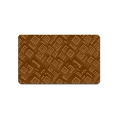 Brown Pattern Rectangle Wallpaper Magnet (name Card) by Amaryn4rt