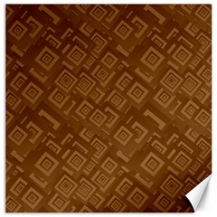 Brown Pattern Rectangle Wallpaper Canvas 12  X 12   by Amaryn4rt