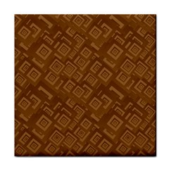 Brown Pattern Rectangle Wallpaper Face Towel by Amaryn4rt