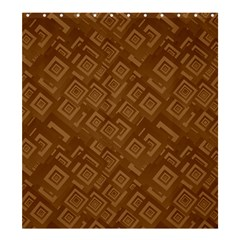 Brown Pattern Rectangle Wallpaper Shower Curtain 66  X 72  (large)  by Amaryn4rt