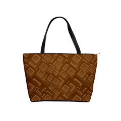 Brown Pattern Rectangle Wallpaper Shoulder Handbags by Amaryn4rt