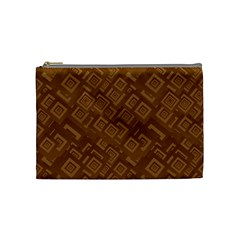 Brown Pattern Rectangle Wallpaper Cosmetic Bag (medium)  by Amaryn4rt