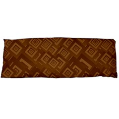 Brown Pattern Rectangle Wallpaper Body Pillow Case (dakimakura) by Amaryn4rt