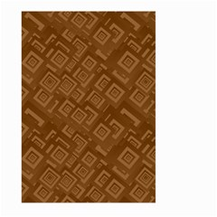 Brown Pattern Rectangle Wallpaper Large Garden Flag (two Sides) by Amaryn4rt