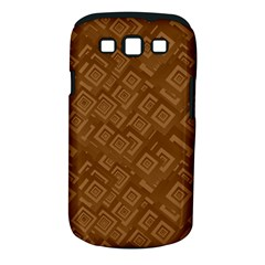 Brown Pattern Rectangle Wallpaper Samsung Galaxy S Iii Classic Hardshell Case (pc+silicone)