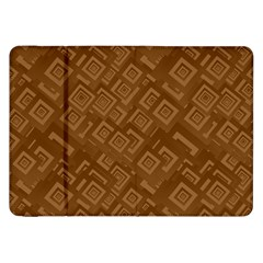 Brown Pattern Rectangle Wallpaper Samsung Galaxy Tab 8 9  P7300 Flip Case