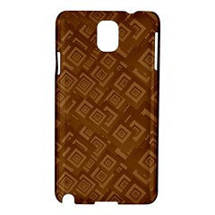 Brown Pattern Rectangle Wallpaper Samsung Galaxy Note 3 N9005 Hardshell Case by Amaryn4rt