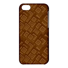 Brown Pattern Rectangle Wallpaper Apple Iphone 5c Hardshell Case by Amaryn4rt