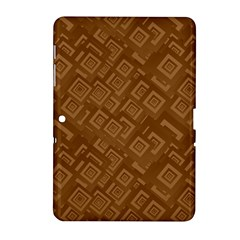 Brown Pattern Rectangle Wallpaper Samsung Galaxy Tab 2 (10 1 ) P5100 Hardshell Case  by Amaryn4rt