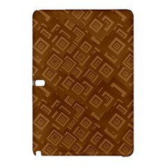 Brown Pattern Rectangle Wallpaper Samsung Galaxy Tab Pro 10 1 Hardshell Case by Amaryn4rt
