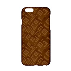 Brown Pattern Rectangle Wallpaper Apple Iphone 6/6s Hardshell Case by Amaryn4rt