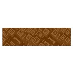 Brown Pattern Rectangle Wallpaper Satin Scarf (oblong)