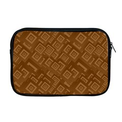 Brown Pattern Rectangle Wallpaper Apple Macbook Pro 17  Zipper Case