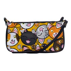 Cats Pattern Shoulder Clutch Bags by Valentinaart
