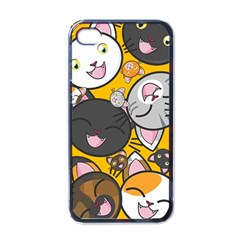 Cats Pattern Apple Iphone 4 Case (black) by Valentinaart
