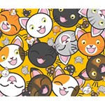Cats pattern Deluxe Canvas 14  x 11  14  x 11  x 1.5  Stretched Canvas