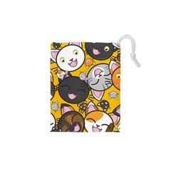 Cats Pattern Drawstring Pouches (xs)
