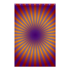 Retro Circle Lines Rays Orange Shower Curtain 48  X 72  (small)  by Amaryn4rt