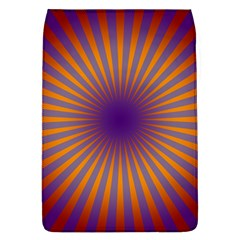 Retro Circle Lines Rays Orange Flap Covers (l)  by Amaryn4rt