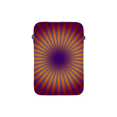 Retro Circle Lines Rays Orange Apple Ipad Mini Protective Soft Cases by Amaryn4rt