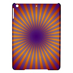 Retro Circle Lines Rays Orange Ipad Air Hardshell Cases by Amaryn4rt