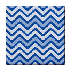 Waves Wavy Lines Pattern Design Tile Coasters by Amaryn4rt