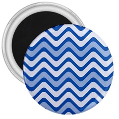 Waves Wavy Lines Pattern Design 3  Magnets