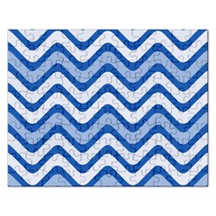 Waves Wavy Lines Pattern Design Rectangular Jigsaw Puzzl by Amaryn4rt