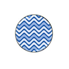 Waves Wavy Lines Pattern Design Hat Clip Ball Marker by Amaryn4rt