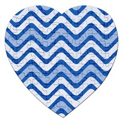 Waves Wavy Lines Pattern Design Jigsaw Puzzle (heart) by Amaryn4rt