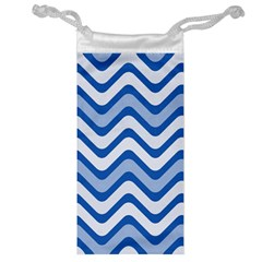 Waves Wavy Lines Pattern Design Jewelry Bag by Amaryn4rt