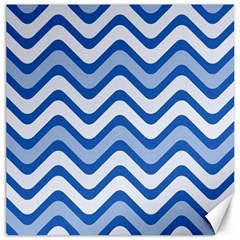 Waves Wavy Lines Pattern Design Canvas 12  X 12   by Amaryn4rt