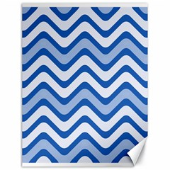 Waves Wavy Lines Pattern Design Canvas 18  X 24   by Amaryn4rt