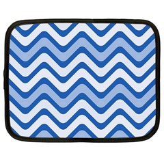 Waves Wavy Lines Pattern Design Netbook Case (large) by Amaryn4rt