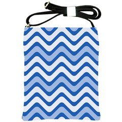Waves Wavy Lines Pattern Design Shoulder Sling Bags by Amaryn4rt