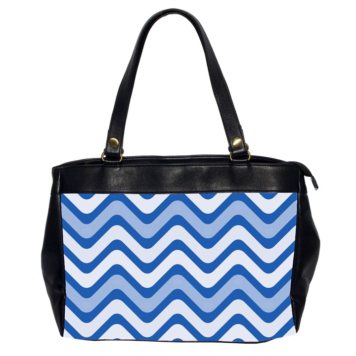 Waves Wavy Lines Pattern Design Office Handbags (2 Sides)
