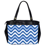 Waves Wavy Lines Pattern Design Office Handbags (2 Sides)  Back