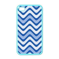 Waves Wavy Lines Pattern Design Apple Iphone 4 Case (color) by Amaryn4rt