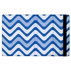 Waves Wavy Lines Pattern Design Apple Ipad 2 Flip Case by Amaryn4rt
