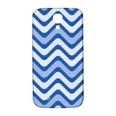 Waves Wavy Lines Pattern Design Samsung Galaxy S4 I9500/i9505  Hardshell Back Case by Amaryn4rt