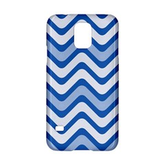 Waves Wavy Lines Pattern Design Samsung Galaxy S5 Hardshell Case  by Amaryn4rt