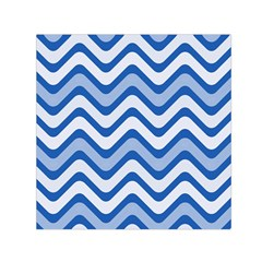 Waves Wavy Lines Pattern Design Small Satin Scarf (square) by Amaryn4rt